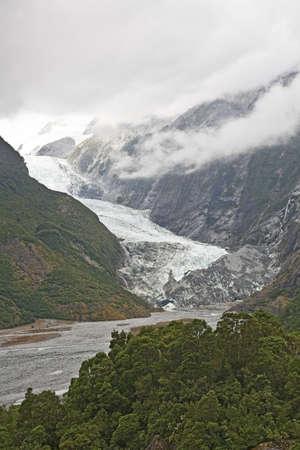 franz josef: Franz Josef Glacier, el Parque Nacional Westland, Isla Sur, Nueva Zelanda  Foto de archivo