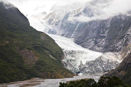 franz josef: Franz Josef glacier, Nueva Zelanda  Foto de archivo