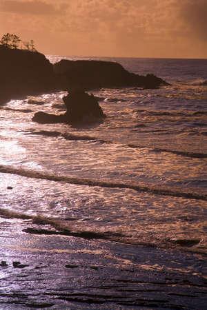 craig tuttle: Sunset,Oregon Coast,USA