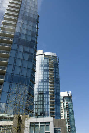 highrises: Downtown Vancouver,British Columbia,Canada Stock Photo