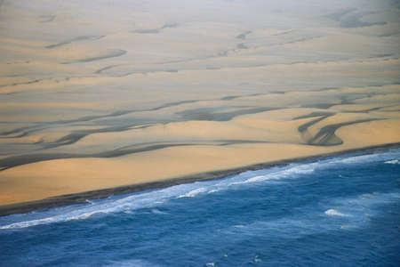 aerial views: Skeleton Coast,Namibia,Africa