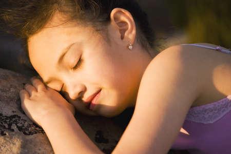 sleep: Young girl sleeping