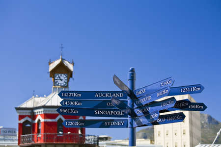 carson ganci: Signpost,Cape Town Wharf,South Africa