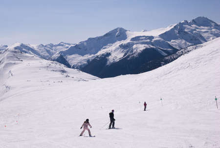 Skiers,Whistler,British Columbia,Canada photo