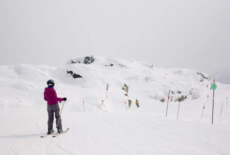 wintersports: Skiers,Whistler,British Columbia,Canada