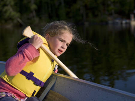 Girl in a boat photo