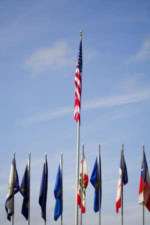 American flag,multiple flags photo