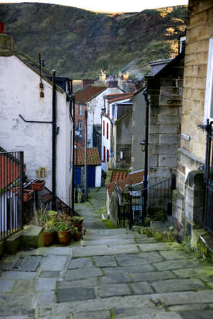 Staithes, North Yorkshire, Engeland Stockfoto