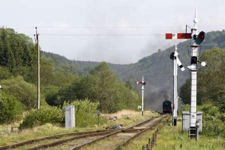 Train Coming Along The Tracks In Levisham,England Stock Photo - 7207723