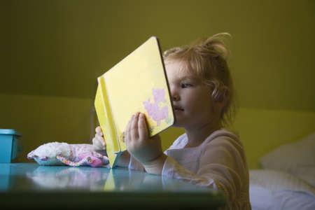 bookish: A girl reading a book