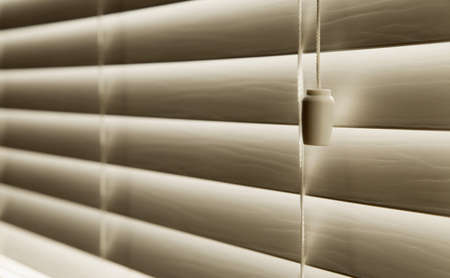 Close up Of Venetian blinds photo
