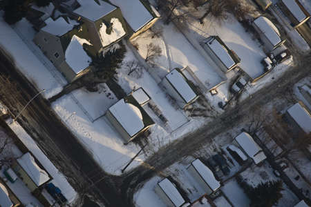 Snow covered rooftops photo