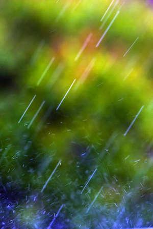 Rain falling photo