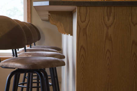 cor: Chairs and raised counter Stock Photo