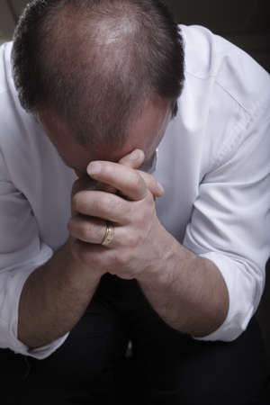 Man praying photo
