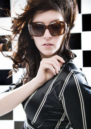 Portrait of a woman with sunglasses photo