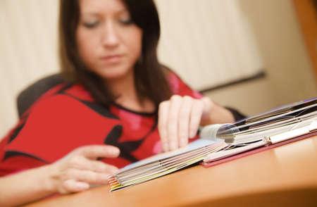 bookish: Woman at work