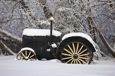 Antique farm tractor   photo