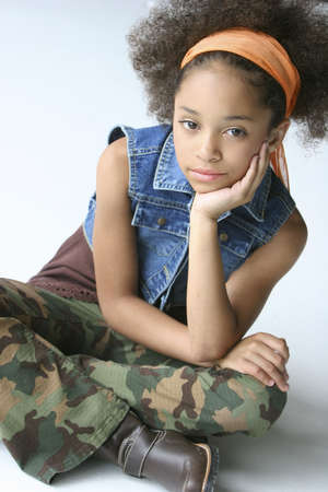 eyecontact: Young girl in urban outfit
