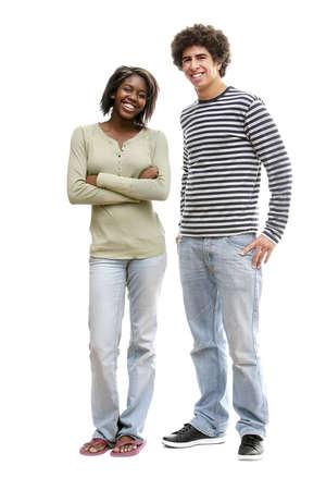 Portrait de deux jeunes adultes  Banque d'images
