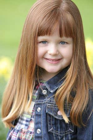 straight jacket: Little girl in a jean jacket