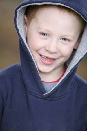 colleen: Boy in blue sweater Stock Photo