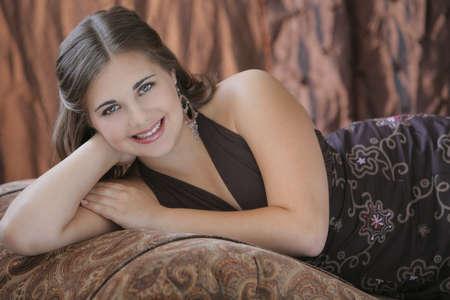 cahill: Portrait of teen girl Stock Photo