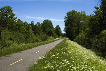 Quebec,Canada, Bicycle trail