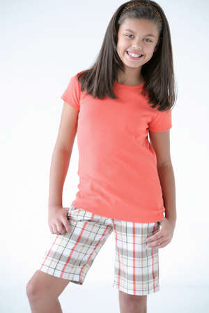 Portrait of preteen girl photo