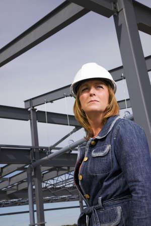 site: Architect on construction site