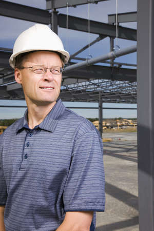 50 something fifty something: Architect on construction site
