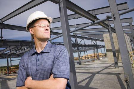 50 something fifty something: Architect on construction site