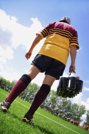warkentin: Rugby player on the sideline with refreshments
