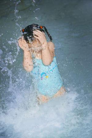 warkentin: Girl splashing in the water