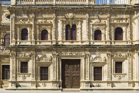 The facade of Seville Town Hall,Ayuntamiento de Sevilla,Seville,Andalucia,Spain,Europe   Stock Photo - 7210568