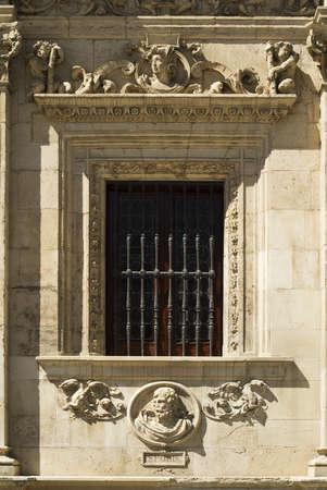 fullframes: The facade of Seville Town Hall,Ayuntamiento de Sevilla,Seville,Andalucia,Spain