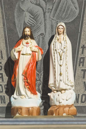 Jesus and Mary icons photo