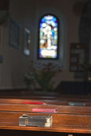 Old Bibles in a church Stock Photo - 7559202