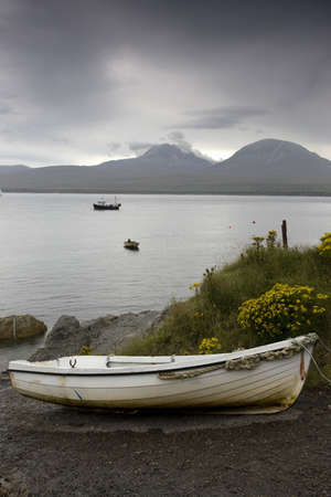 jura: Boats in water and on shore