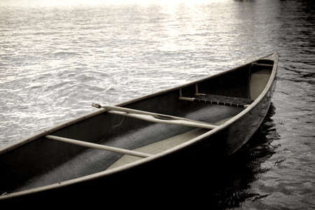 Lake of the Woods, Ontario, Canada; Boat on the water Stock Photo - 7551612