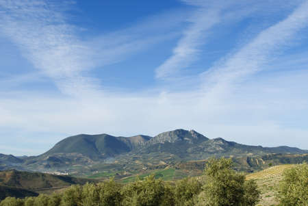 Seville Province, Andalucia, Spain; El Peñon of Algamitas at 1100 metres in the Tablon mountain range Stock Photo - 7551665