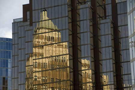 Reflection in glass building, Vancouver, British Columbia, Canada Stock Photo - 7551614