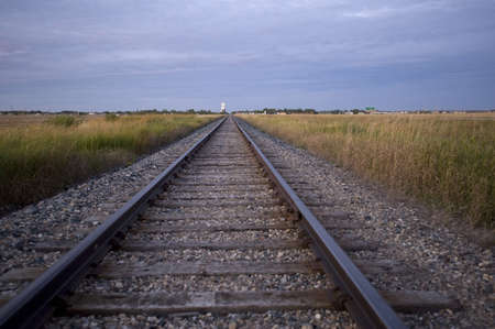 Prairie railroad tracks, Manitoba, Canada Stock Photo - 7551695