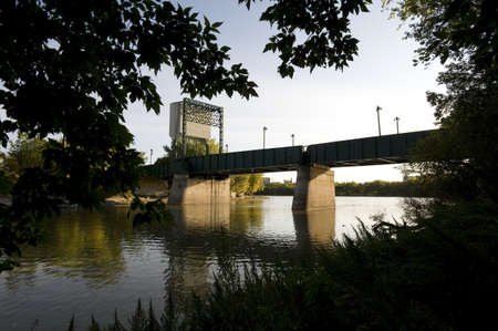 assiniboine: Bridge over Assiniboine River, Manitoba, Canada
