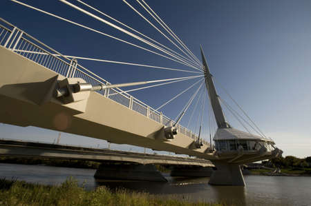 riel: Pedestrian bridge, Esplanade Riel, Winnipeg, Manitoba, Canada