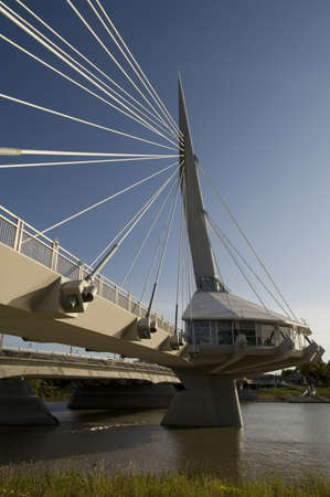 Pedestrian bridge, Esplanade Riel, Winnipeg, Manitoba, Canada Stock Photo - 7551569