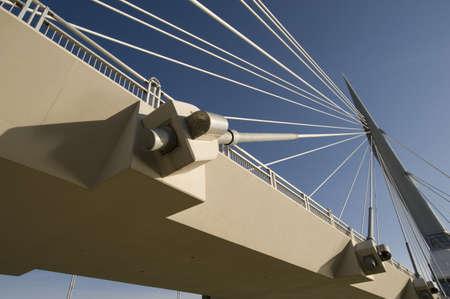 Detail of pedestrian bridge, Esplanade Riel, Winnipeg, Manitoba, Canada Stock Photo - 7551508