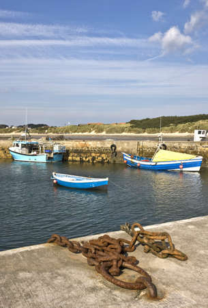 Boats in harbour, Northumberland, England Stock Photo - 7559191