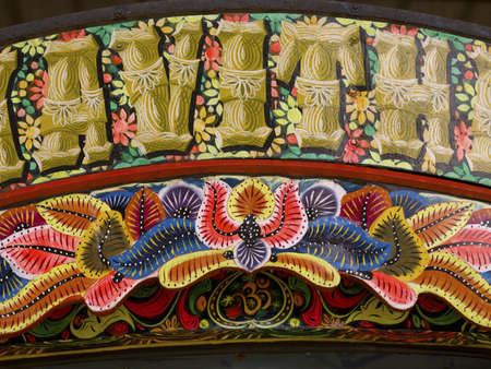 alleppey: Decoration on truck, Alleppey, Kerala, India
