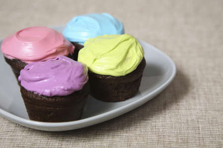 Cupcakes with colored icing Stock Photo - 7559198